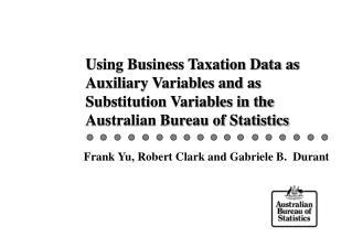 Frank Yu, Robert Clark and Gabriele B.  Durant