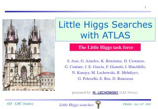 Little Higgs Searches with ATLAS