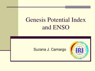 Genesis Potential Index and ENSO