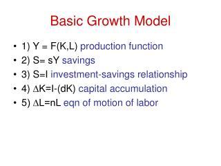 Basic Growth Model