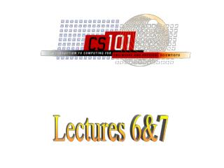 Lectures 6&7