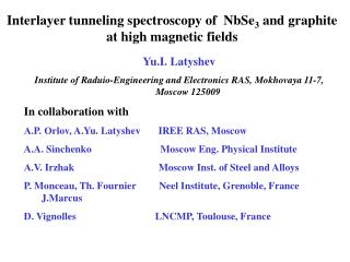 Interlayer tunneling spectroscopy of  NbSe 3  and graphite at high magnetic fields
