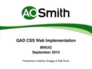 QAD CSS Web Implementation