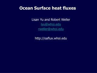 Ocean Surface heat fluxes