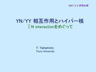 YN/YY  相互作用とハイパー核 ΞN interaction をめぐって
