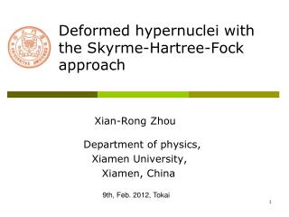 Deformed hypernuclei with  the Skyrme-Hartree-Fock approach