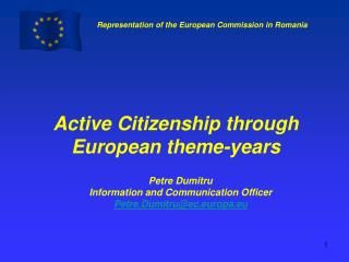 Active Citizenship through European theme-years