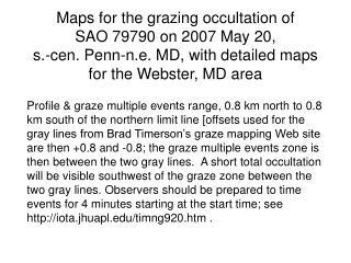 Graze profile for s. cen. PA & n.e. MD