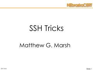 SSH Tricks