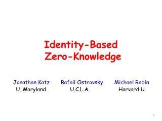 Identity-Based  Zero-Knowledge