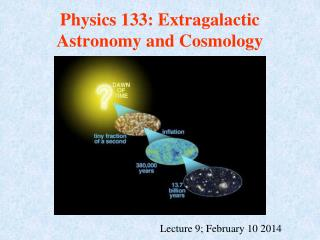 Physics 133: Extragalactic Astronomy and Cosmology