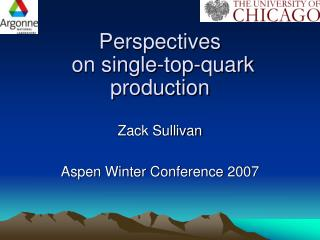 Perspectives  on single-top-quark production