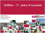 Softline   17  years of success
