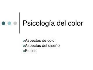 Psicolog a del color