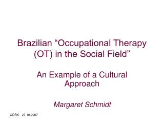 "Brazilian ""Occupational Therapy (OT) in the Social Field"""