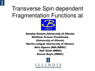 Transverse Spin dependent Fragmentation Functions at