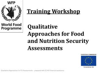 Qualitative Approaches for Food and Nutrition Security Assessments