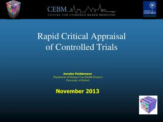 Rapid Critical Appraisal of Controlled Trials