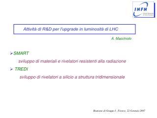 Attività di R&D per l'upgrade in luminosità di LHC
