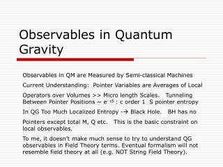Observables in Quantum Gravity
