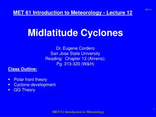 MET 61 Introduction to Meteorology - Lecture 12