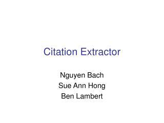 Citation Extractor