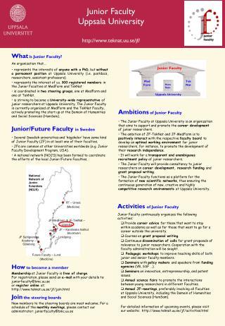 Junior Faculty Uppsala University teknat.uu.se/jf/