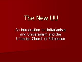 The New UU