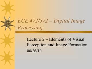 Lecture 2 - Visual Analysis
