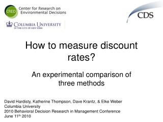 How to measure discount rates