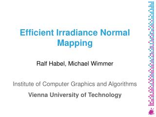 Efficient Irradiance Normal Mapping