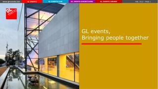 GL events,  Bringing people together