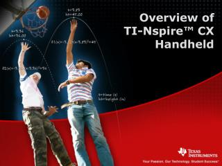 Overview of  TI-Nspire™ CX  Handheld