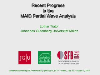 Recent Progress  in the  MAID Partial Wave Analysis