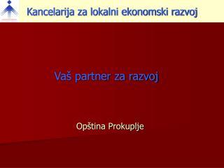 Va� partner za razvoj