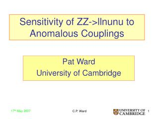 Sensitivity of ZZ->llnunu to Anomalous Couplings