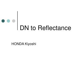 DN to Reflectance