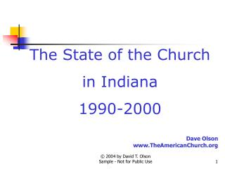 The State of the Church in Indiana 1990-2000