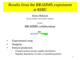 Results from the BRAHMS experiment  at RHIC