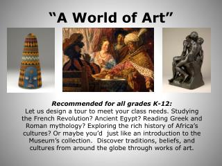 """A World of Art"""