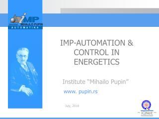 """Institut e  """"Miha i lo Pupin"""""""