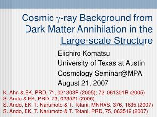 Cosmic   -ray Background from Dark Matter Annihilation in the Large-scale Structure