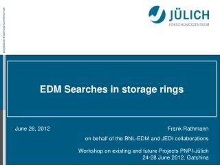 EDM Searches in storage rings
