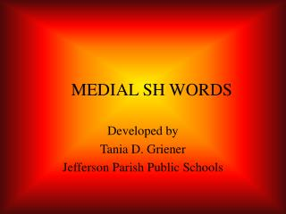 MEDIAL SH WORDS