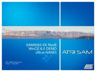 SAM9263-EK RevB WinCE 6.0 DEMO (All-in-NAND)