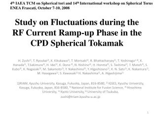 Study on Fluctuations during the RF Current Ramp-up Phase in the CPD Spherical Tokamak