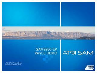 SAM9260-EK WinCE DEMO
