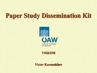 Paper Study Dissemination Kit