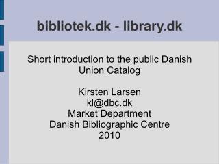 bibliotek.dk - library.dk