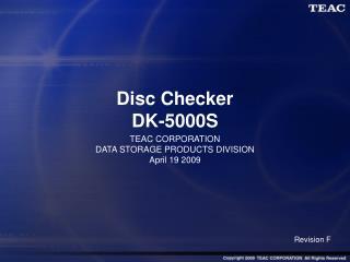 Disc Checker DK-5000S